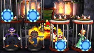 Mario Party Top 100 - 4 Player Minigames - Mario Rosalina Waluigi  Wario All Funny Minigames