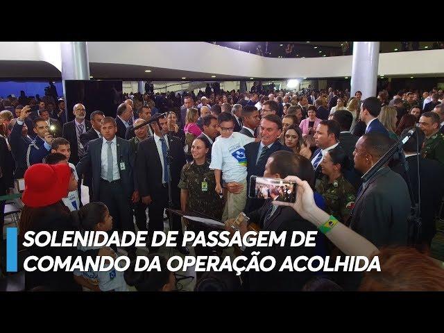 Presidente recebe crianças venezuelanas no Planalto