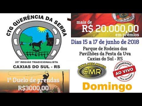 12º Rodeio do CTG Querência da Serra - 15 a 17 de junho de 2018 - Caxias do Sul-RS - Domingo