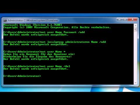 [How To]Net user Befehle / Cmd als Admin - YouTube