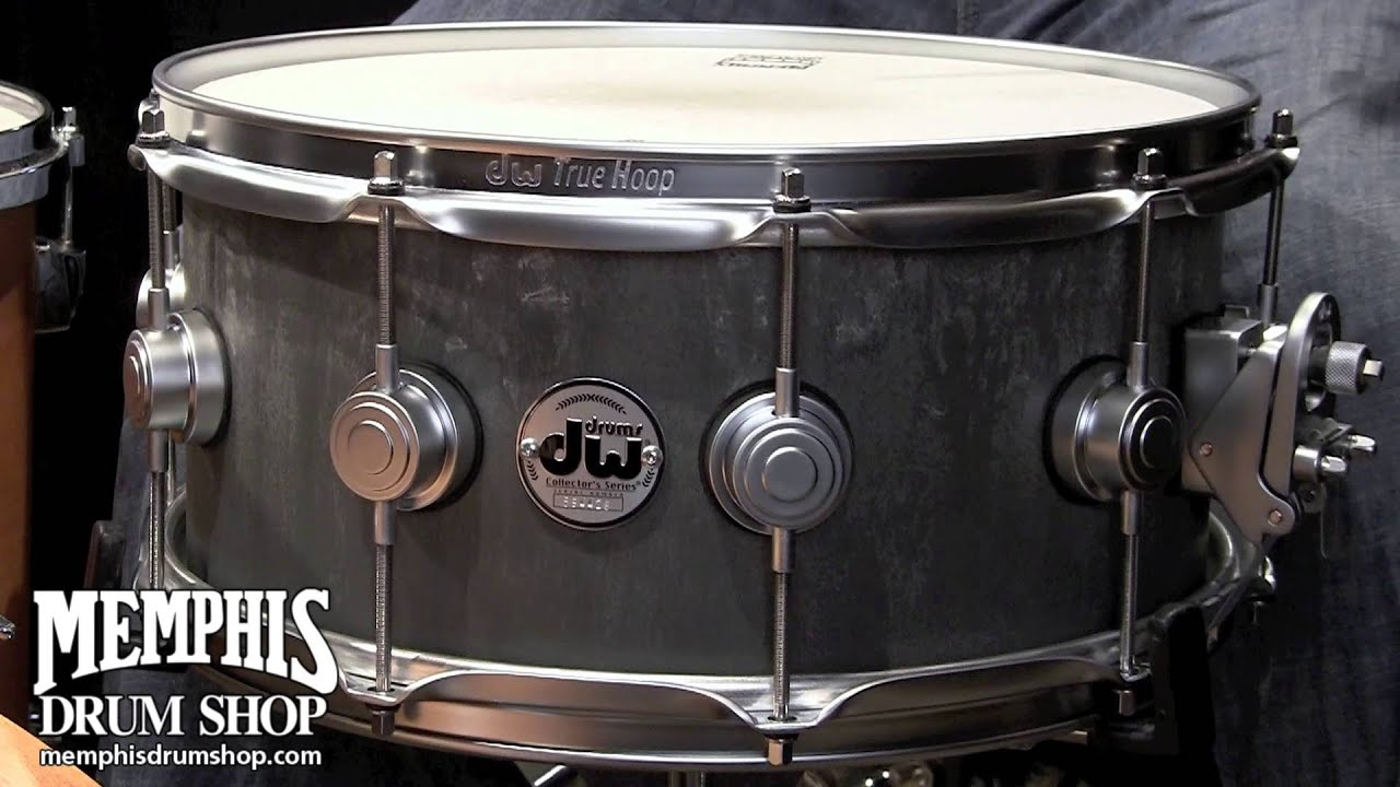 dw 14 x 6 5 collector 39 s series concrete snare drum youtube. Black Bedroom Furniture Sets. Home Design Ideas