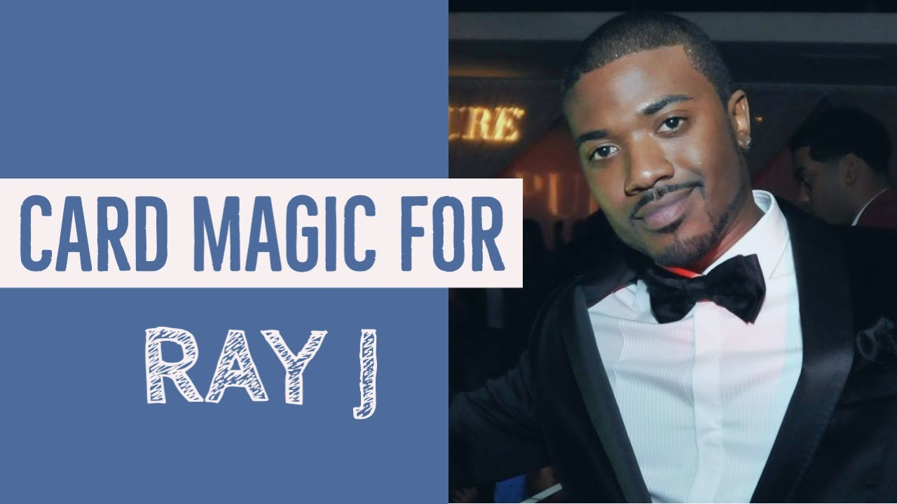 Doing amazing street card magic for Ray J!