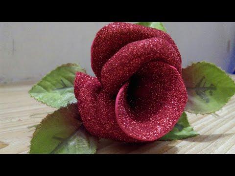 Easy Glitter Foam Sheet Flower