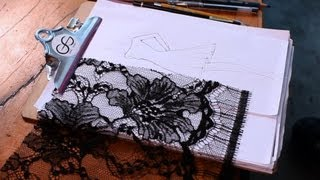 How to Draw Lace | Fashion Sketching