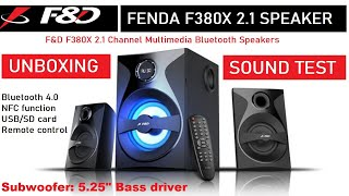 F amp D F380X 2 1 Multimedia Bluetooth Speakers Unboxing Depth Review amp Sound Test