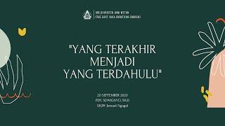Kebaktian Minggu 20 September 2020 GKJW Jemaat Ngagel
