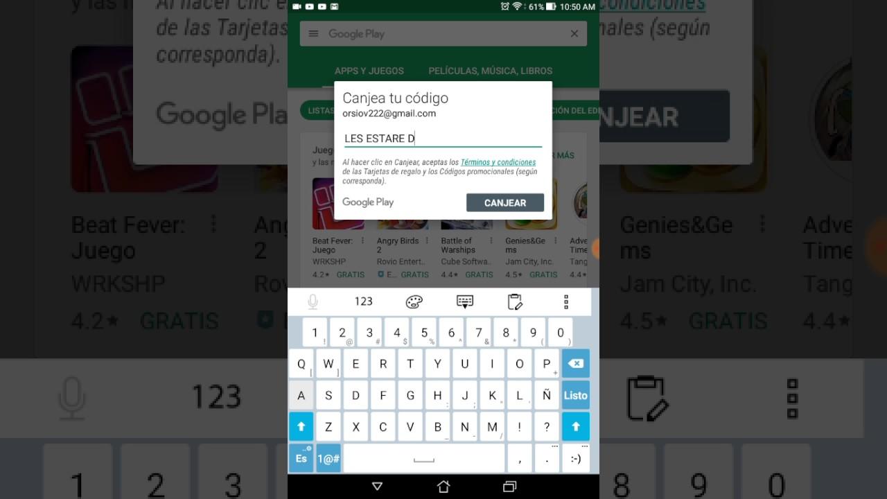 Tarjetas De Google Play Juegos