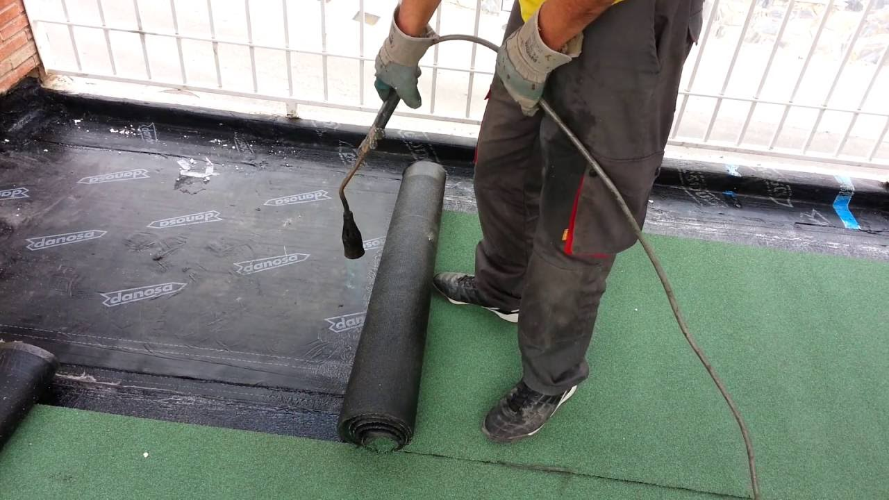 Impermeabilizaci n de terraza con tela asf ltica cebrian - Tela asfaltica pizarra ...