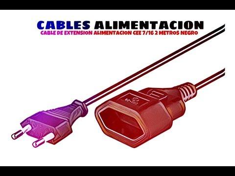 Video de Cable de extension alimentacion CEE 7/16 2 M Negro
