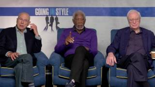 Michael Caine Morgan Freeman and Alan Arkin Raw Interview Going In Style