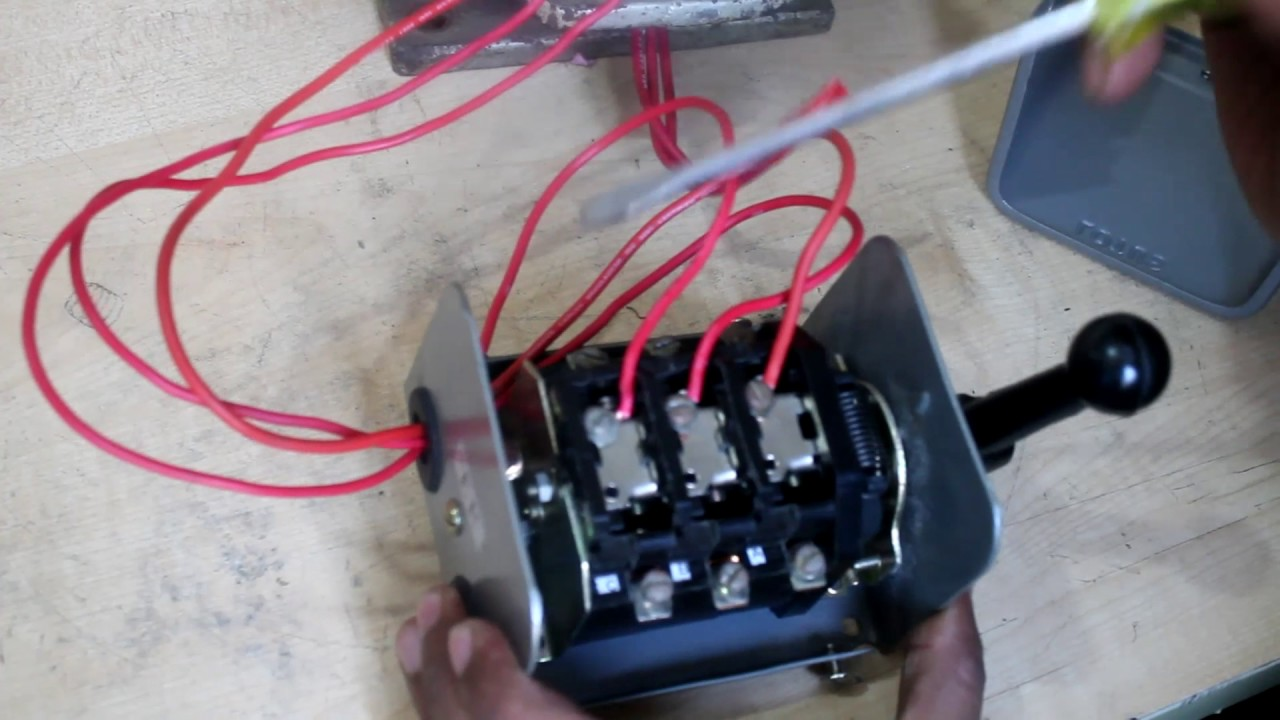 Three Phase Motor Reverse and Forward Connection | Reverse Forward Switch Connection  YouTube