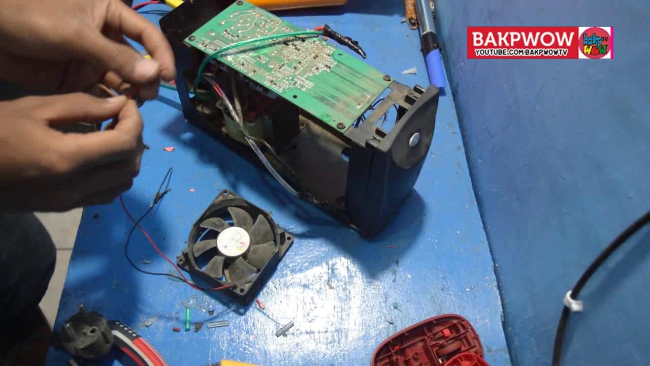 Membuat Inverter Listrik Dc 12v Ke 220v Ac Dari Ups Bekas Youtube