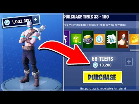 SPENDING MY 1,000,000 V BUCKS on SEASON 5 BATTLE PASS! (Fortnite Battle Royale)