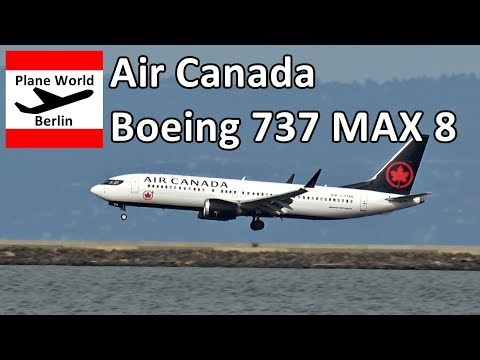 Air Canada Boeing 737 MAX 8 Landing At San Francisco Airport