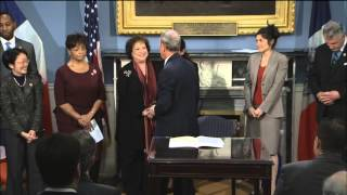 Mayor Bloomberg Presides Over a Bill Signing Ceremony