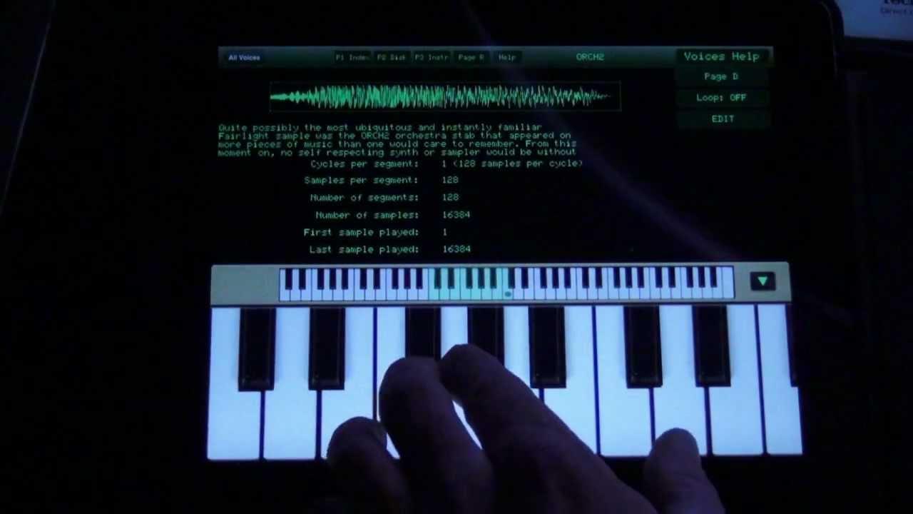 80's Music Sample Junkie? Fairlight CMI APP from Peter Vogel ...