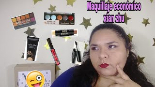 Maquillaje con productos económicos /maquillaje con productos de la marca xian zhu