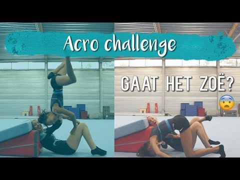 Turnsters doen ACRO challenge // Rybka Twins | Typisch Turnen
