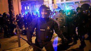 Barcelona rocked by fifth night of unrest over rapper's jailing