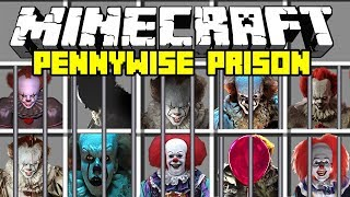 Minecraft IT PENNYWISE PRISON MOD! | ESCAPE FROM PENNYWISE PRISON! | Modded Mini-Game