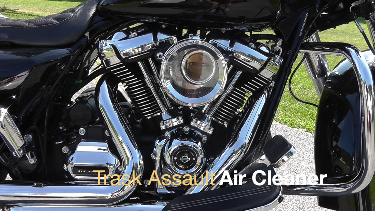 Honda Fury Review >> Trask Assault Air Cleaner Intake for Harley Milwaukee 8- Review & Start Up - YouTube