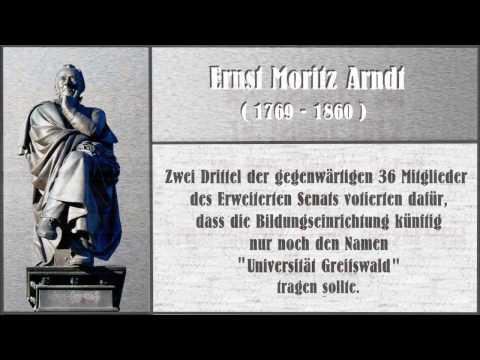 Ernst Moritz Arndt weggesäubert - das schlechteste Studienangebot des Senats der Uni Gryps