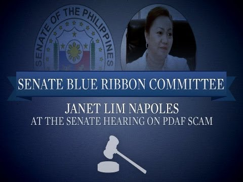 Livestream: Napoles at Senate pork scam hearing (Nov. 7, 2013)