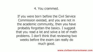 8 Possible Reasons Why You Failed the Civil Service Exam