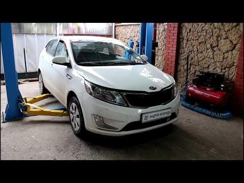 Замена масла в двигателе и фильтров на Киа Рио 2015 года Kia Rio 1,6