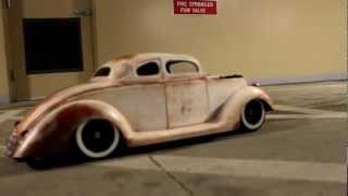 1/6 r/c 36 Ford air bags rat rod hot rod kustom gasser drag