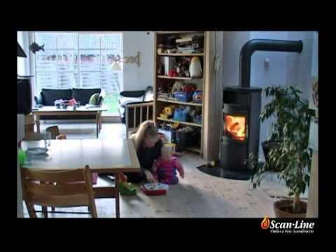 video poele a bois scandinave scan line de chez heta youtube. Black Bedroom Furniture Sets. Home Design Ideas