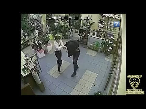 Attacker Wasn't Expecting to Get Jerseyed by Female Clerk | Active Self Protection