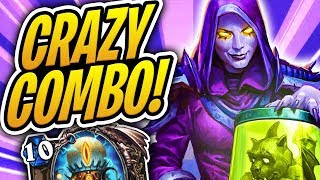 This 8 Card COMBO IS ACTUALLY CRAZY! | Reckless Experimenter OTK Priest | Rise of Shadows | HS