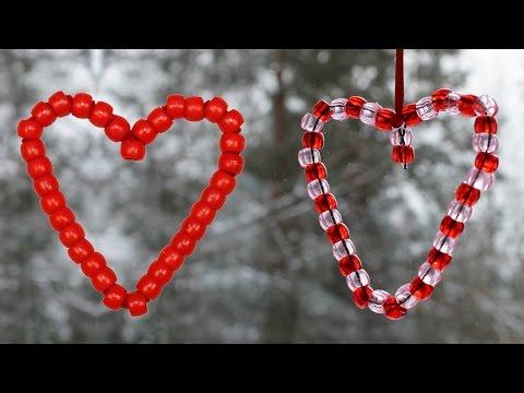 Coeur avec des perles pour la st valentin youtube - Coeur pour la saint valentin ...