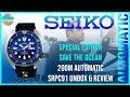 Save The Ocean Blue Stunner! | Seiko Special Edition 200m Automatic SRPC91 Unbox & Review