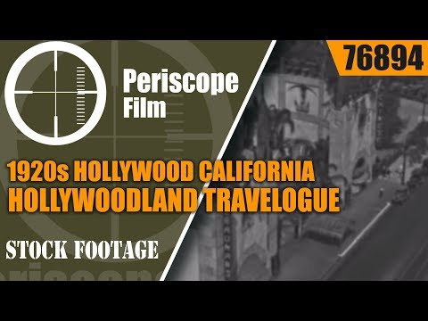 1920s HOLLYWOOD CALIFORNIA  & HOLLYWOOD BOULEVARD HOLLYWOODLAND TRAVELOGUE  76894
