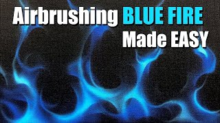 How to Airbrush Blue Real Fire