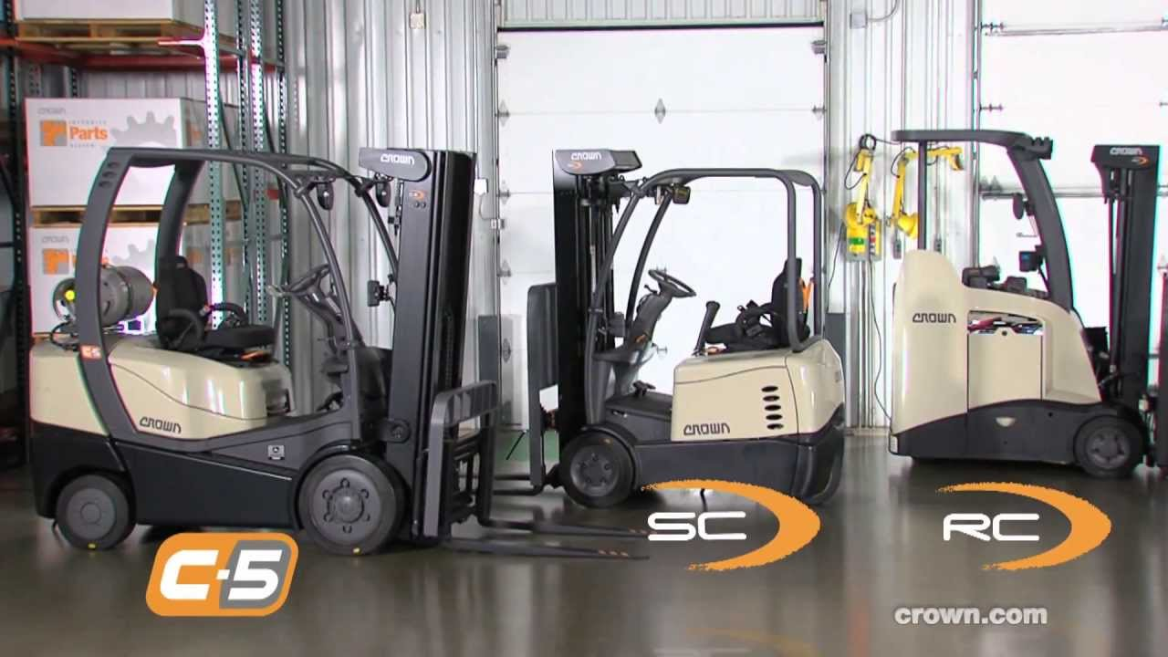 Crown Counterbalanced Forklifts Youtube Forklift Wiring Diagram