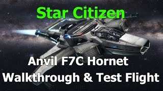 Star Citizen Anvil F7C Hornet Walkthrough and Test Flight