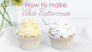 How to make your Buttercream Frosting White - Cake Decorating Tutorial
