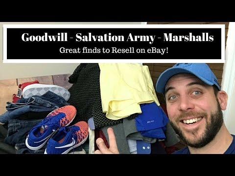 Saturday Sourcing - Goodwill, Salvation Army & Marshall's Haul to Resell on eBay!