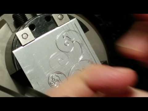 Demo of engraving with DIY Homemade Engraving Machine