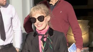 EXCLUSIVE : Arielle Dombasle at RTL radio station in Paris