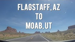 Let's Drive! - Flagstaff, Arizona to Moab Utah  Time Lapse(MONUMENT VALLEY and CANYONLANDS!)