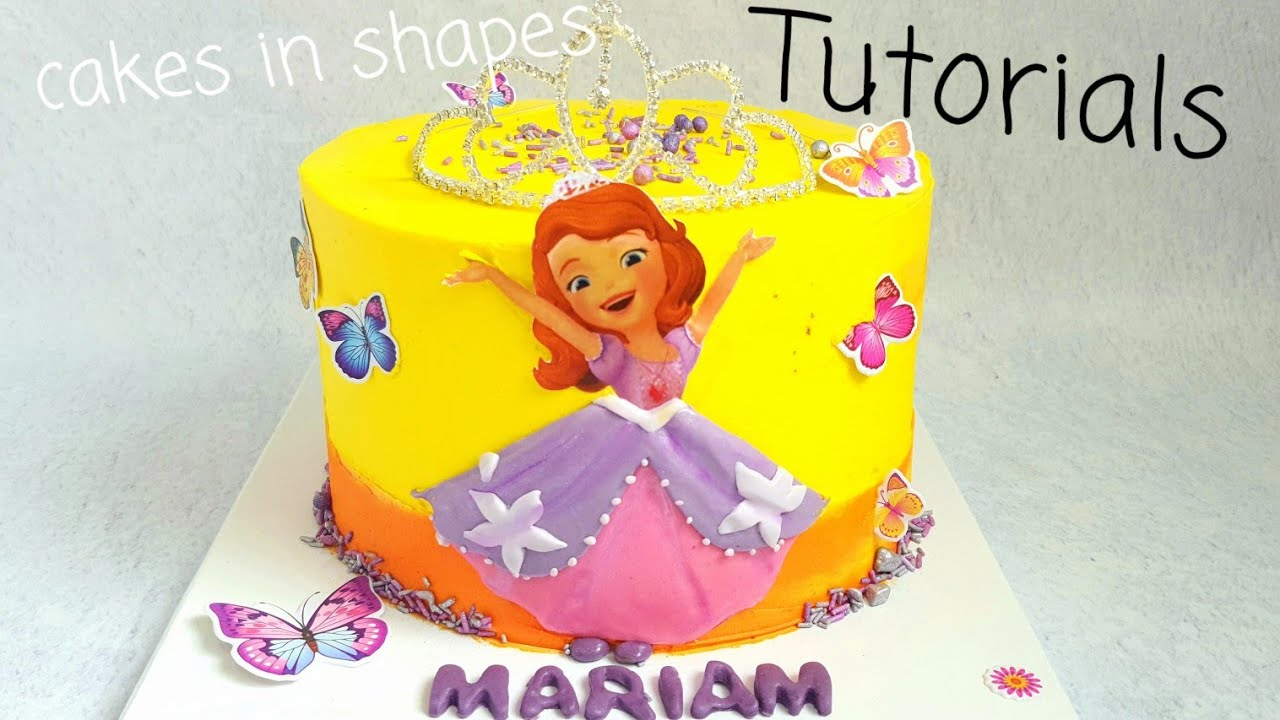 Download Sofia the First cake step by step tutorial video/طريقه تزيين تورته الأميره صوفيا
