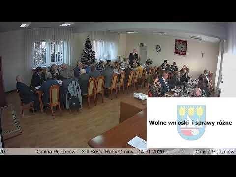 Gmina Pęczniew – XIII Sesja Rady Gminy Pęczniew