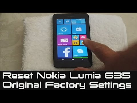 How to Reset Nokia Lumia 635 | Original Factory Settings