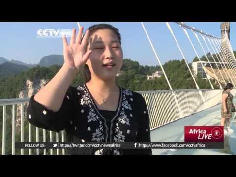 World's highest glass bridge opens in China's Hunan province