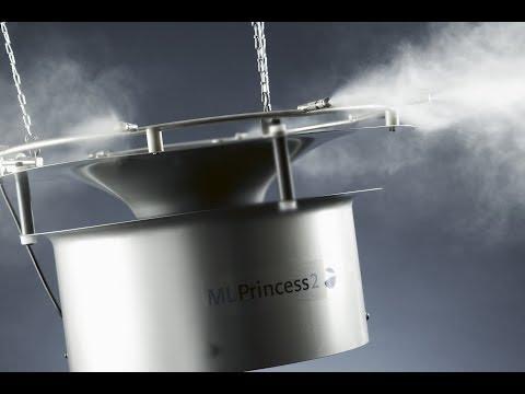 ML levegő párásító rendszerek - nagynyomású fúvókarendszer