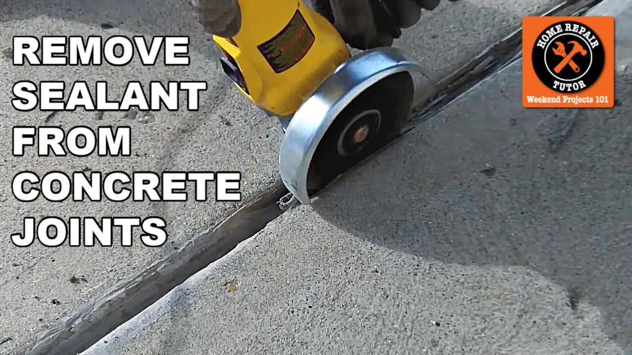Concrete Expansion Joints Part 1 Remove Old Sealant By Home Repair Tutor You